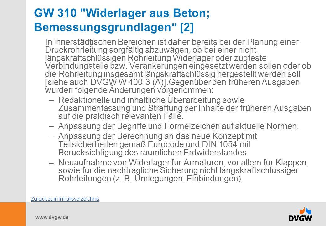 GW 310 Widerlager aus Beton; Bemessungsgrundlagen [2]